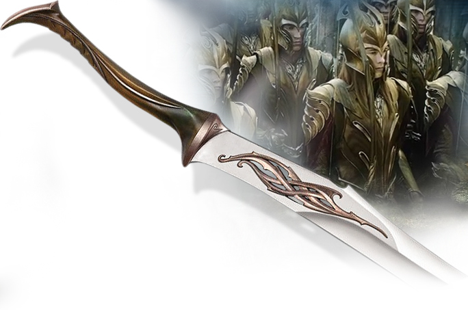 NobleWares Image of UC3100 Mirkwood Infantry Sword prop replica from The Hobbit An Unexpected Journey licensed product by United Cutlery