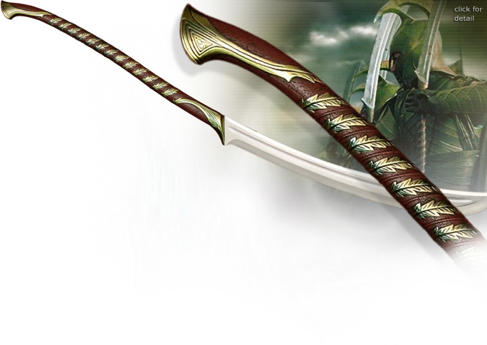 NobleWares Image of Lord of the Rings High Elven Warrior Sword and wall display UC1373 from United Cutlery
