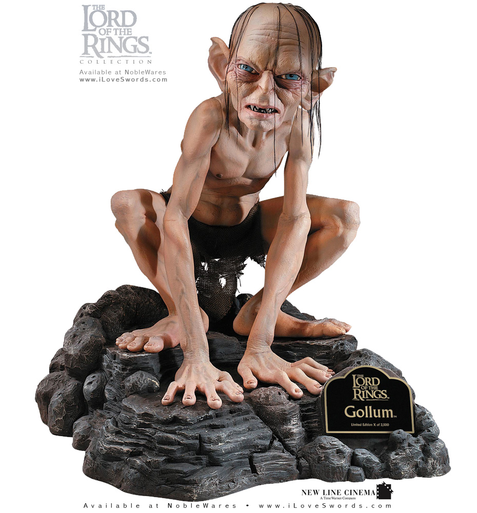 Lord of the Rings Life Size Gollum Statue 909885 by Rubies