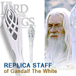 Lord of the rings uc1386wtnb staff of gandalf the white by united