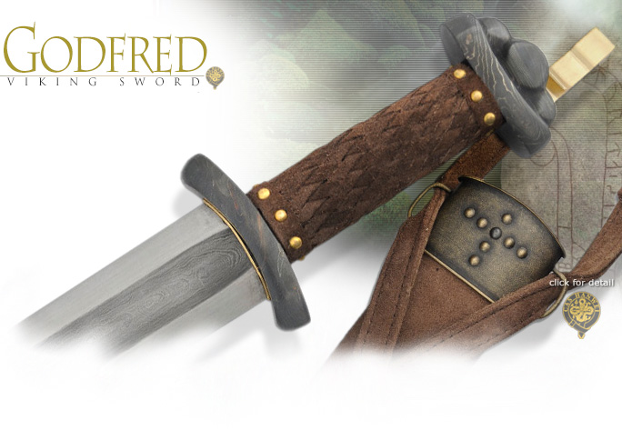 Image of Battle Ready Godfred Viking Sword SH1010 by CAS Hanwei