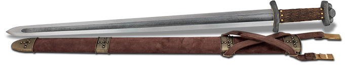 full view of Battle Ready Godfred Viking Sword SH1010 by CAS Hanwei
