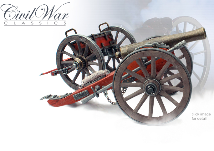 NobleWares Image of Miniature 1/12th scale Civil War Cannon and Limber set 491/492