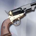 Denix Model 1083L Civil War Replica Griswold & Gunnison Brass Frame Confederate Pistol Non-Firing Gun