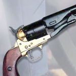 Denix Model 1007L Civil War Replica M1860 Colt Army Revolver Non-Firing Brass and Blued finish