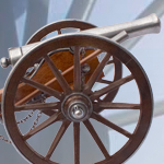 Miniature 1861 CIVIL WAR 12-POUNDER CANNON model 402 by DENIX