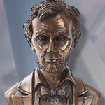 Abraham Lincoln Presidential Bust Bronze Resin Sculpture PT10194 by Pacific Giftwares