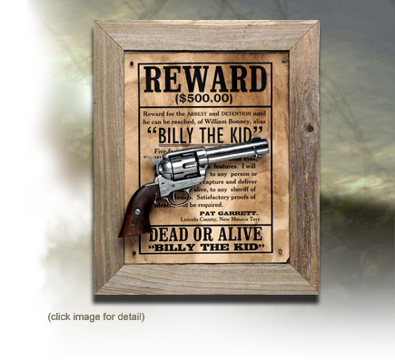 Historic Boxed Pistol Sets - Wanted Billy the Kid