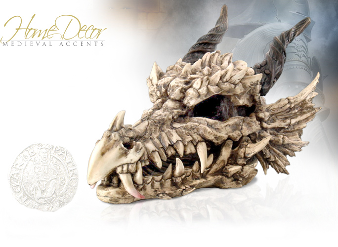 NobleWares Image of Large Medieval Dragon Skull 9255 by Pacific Trading