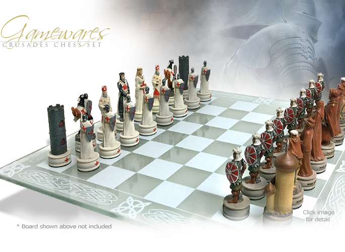 NobleWares Image of Crusades Chess Set 7062 with Board Options 4959 or Chess Box 5478 by YTC Summit