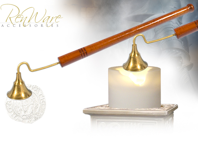 "NobleWares Image of 10"" Brass Candle Snuffer BR22001 made in India"