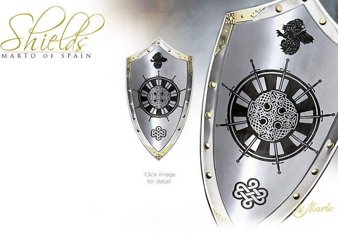 King Arthur S Roundtable Shield 965 2with Natural Steel