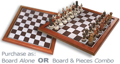 Chess Board Box 5478 and Crusades Chess Pieces 7062