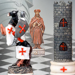 Crusades Chess Set 7062 with Board Options 4959 or Chess Box 5478 by YTC Summit