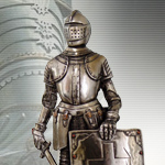 Cast Bronzed Resin Crusader Knight 8718 by Pacific Trading