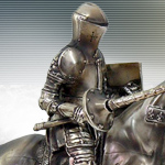 Cast Bronzed Resin Jousting Knight Statue 9414 by Pacific Trading