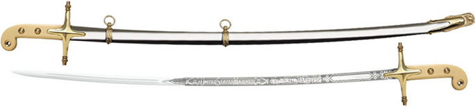 88MOS US Marine Officer's Sword Saber by Cold Steel