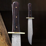 Full Tang Damascus Hunting Knife - Redemption Dead On Collection