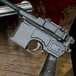 Mauser Pistol Denix Model 1024 of the Redemption Dead On Collection