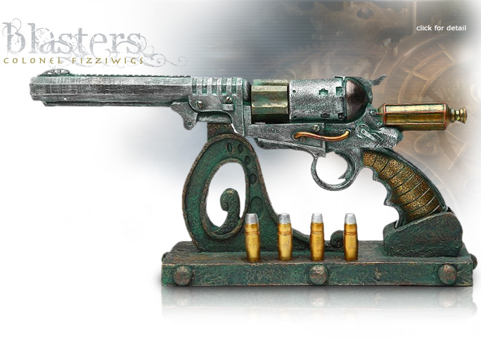 NobleWares Image of Colonel Fizziwigs Steampunk Collection Peace Bringer Blaster 8680 with Stand by Pacific Trading