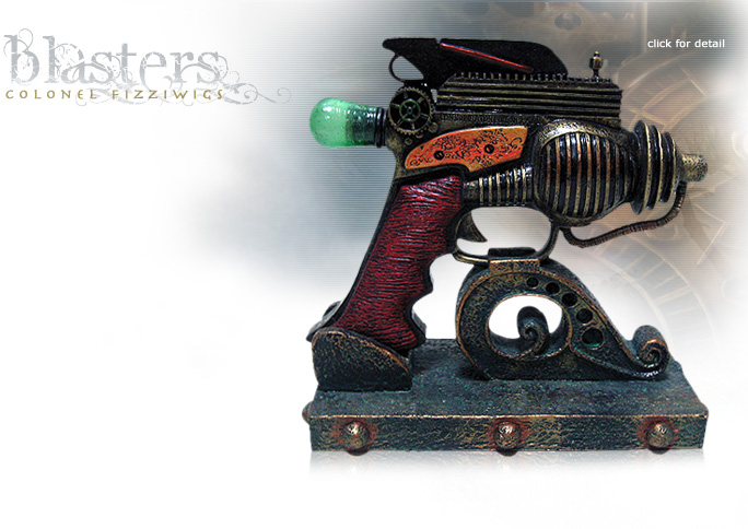 NobleWares Image of Colonel Fizziwigs Steampunk Collection Consolidator Blaster 8323 with Stand by Pacific Trading