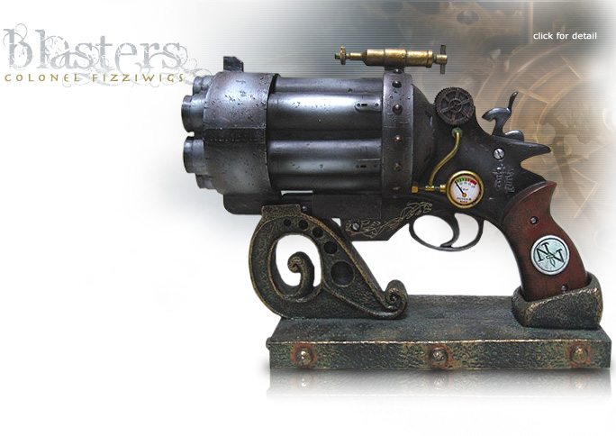 NobleWares Image of Colonel Fizziwigs Steampunk Collection Liberator MK.III Blaster with Stand by Pacific Trading
