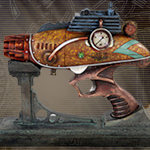 Colonel Fizziwigs ZAPPER Steampunk Blaster with stand 10016 by Pacific Trading