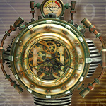 Colonel J. Fizziwigs Steampunk Wall Clock 8508 by Pacific Trading