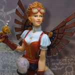 Steampunk Lady Over Barrel 9200 by Pacific Giftware