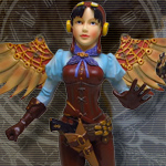 Steampunk Lady Winged Flyer 9198 by Pacific Giftware