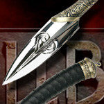 MCHB02L Hellboy II Prince Gold Edition Nuada Spear LE by Master Cutlery