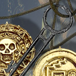 POTC Coin Necklace and Key Bundle
