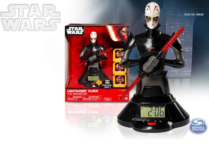 Star Wars The Inquisitor Lightsaber Clock