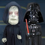 Star Wars Bad Boys Darth Vader 8245 and Emperor Palpatine 8363 Mini Bobble Heads by Funko