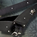 PIRATES LEATHER BELT & FROG