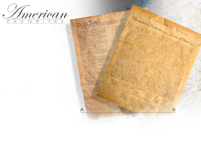 NobleWares Image of Replicas of the United States Constitution 29C and the Declaration of Independence 29G