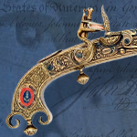 """The shot heard 'round the World"" 1760 Scottish Flintlock Pistol model 1246 by Denix of Spain"