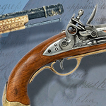 Colonial Lewis & Clark non-firing replica Flintlock Pistol model 1011 by Denix of Spain