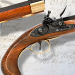 Kentucky Flintlock (beveled stock) non-firing replica Flintlock Pistol model 1198 by Denix of Spain