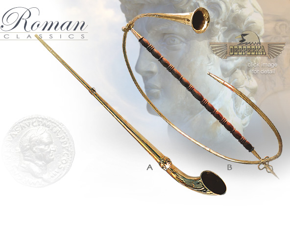Image of Roman Military Brass Horns AH3870 and AH3870T by Deepeeka