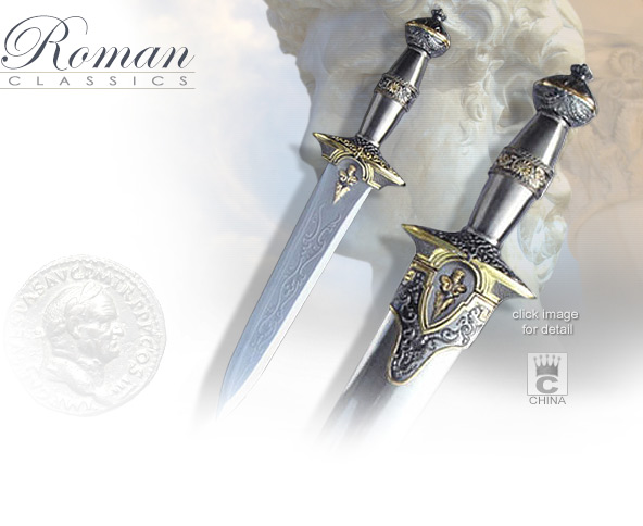 Image of Roman Dress Dagger with scabbard H-71 made in China