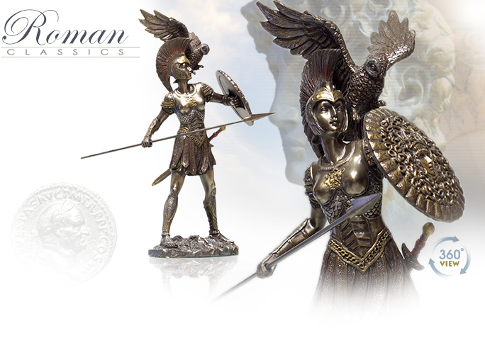 Image of Athena Cold Cast Bronze Statue 7853 by Pacific Giftwares