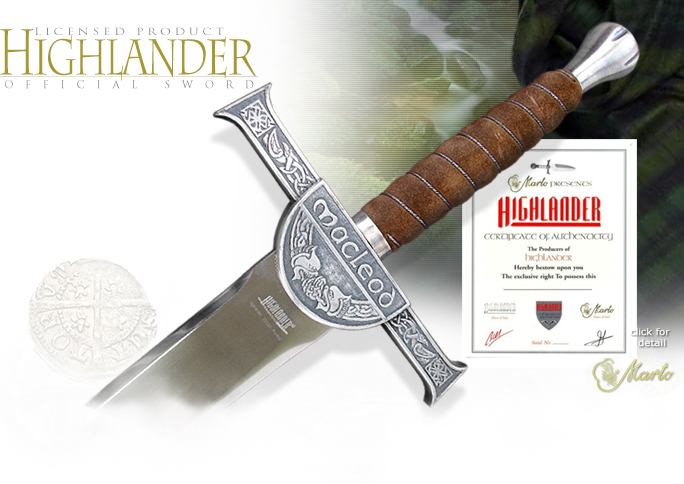 Officially Licensed Connor MacLeod Highlander Sword 595 by Marto of Spain