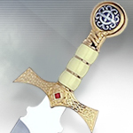 """The Best of Highlander"" Limited Edition Gold Dagger HI005.2 by Marto"