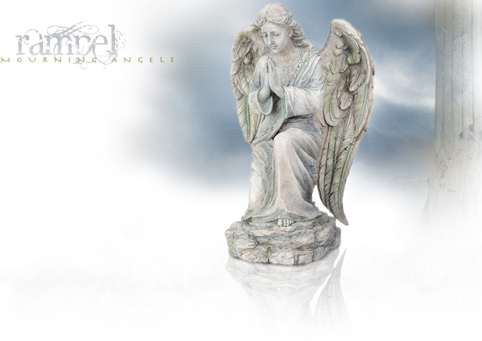 NobleWares Image of Cold Cast Resin Statue Mourning Angel Rampel 7462 by YTC Summit
