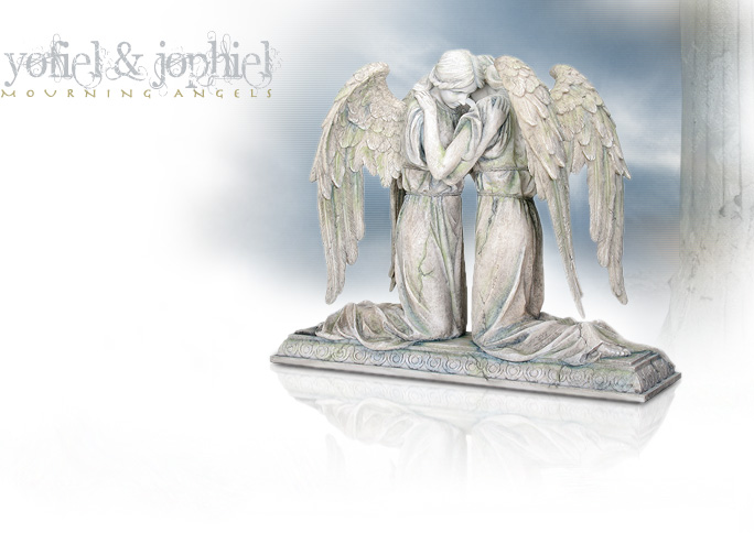 NobleWares Image of Cold Cast Resin Statue Mourning Angels Yofiel and Jophiel 7461 by YTC Summit