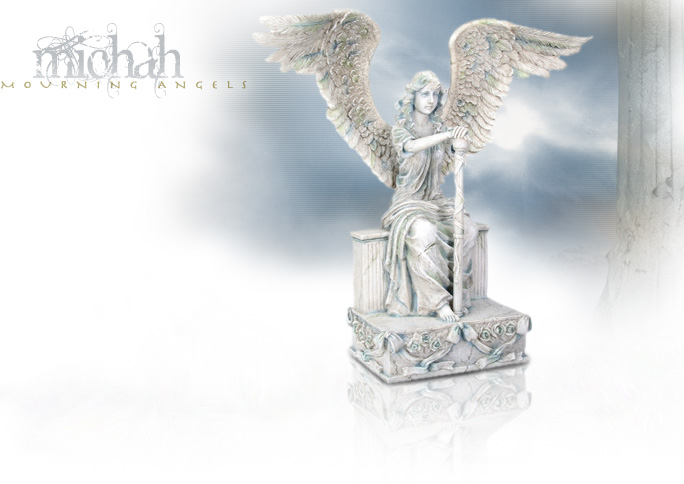 NobleWares Image of Cold Cast Resin Statue Mourning Angel Michah 7458 by YTC Summit