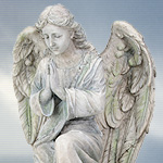 Cold Cast Stone Resin Angel Rampel 7462 Statues by YTC Summit,