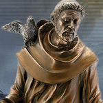 Cold Cast Bronze St. Francis Statue 7674 by YTC Summit