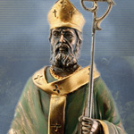 Cold Cast Bronze St. Patrick Statue 7673 by YTC Summit